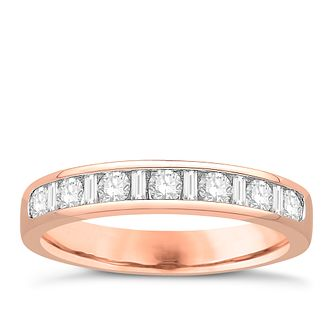 Eternal Brilliance 18ct Rose Gold 0.50ct Wedding Ring - Product number 4272366