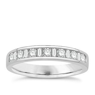 Eternal Brilliance 18ct White Gold 0.50ct Wedding Ring - Product number 4272676