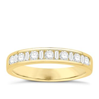 Eternal Brilliance 18ct Yellow Gold 0.50ct Wedding Ring - Product number 4273095