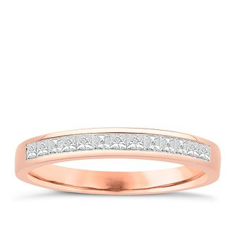 Eternal Brilliance 18ct Rose Gold 0.33ct Wedding Ring - Product number 4275799