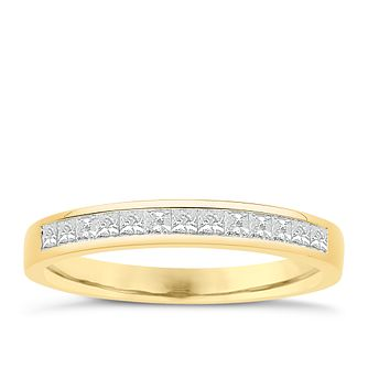 Eternal Brilliance 18ct Yellow Gold 0.33ct Wedding Ring - Product number 4277163