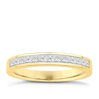 Eternal Brilliance 18ct Yellow Gold 0.50ct Wedding Ring - Product number 4277864