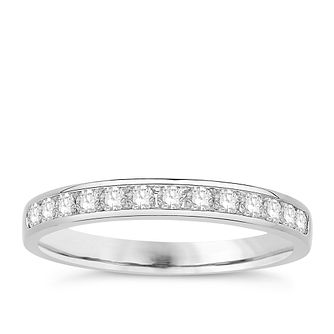 Eternal Brilliance 18ct White Gold 0.25ct Wedding Ring - Product number 4278771
