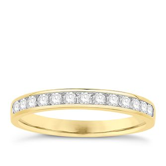 Eternal Brilliance 18ct Yellow Gold 0.25ct Wedding Ring - Product number 4279158