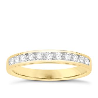 Eternal Brilliance 18ct Yellow Gold 0.33ct Wedding Ring - Product number 4279972