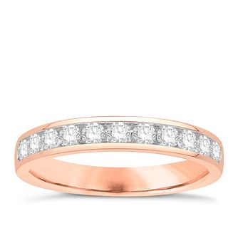 Eternal Brilliance 18ct Rose Gold 0.50ct Wedding Ring - Product number 4280598