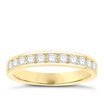 Eternal Brilliance 18ct Yellow Gold 0.50ct Wedding Ring - Product number 4281195