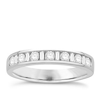 Eternal Brilliance Platinum 0.50ct Wedding Ring - Product number 4286111