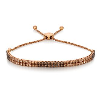 Le Vian 14ct Strawberry Gold Double Row Adjustable Bracelet - Product number 4288858