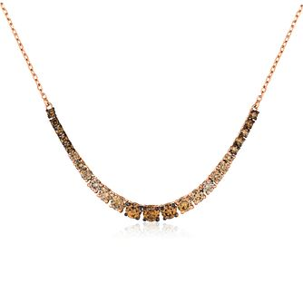 Le Vian 14ct Strawberry Gold Ombre Diamond Necklace - Product number 4288866
