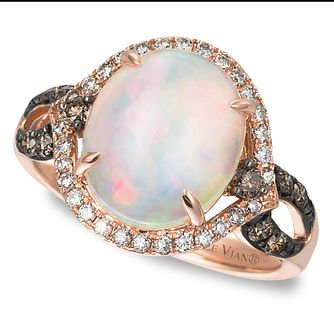 Le Vian 14ct Strawberry Gold Neopolitan Opal Ring - Product number 4290682