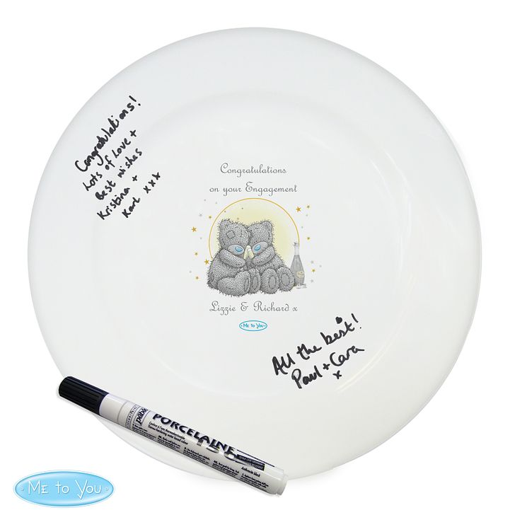 Personalised Me To You Celebration Message Plate & Pen - Product number 4290712