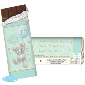 Presonalised Me To You Blue Balloons Chocolate bar - Product number 4290836