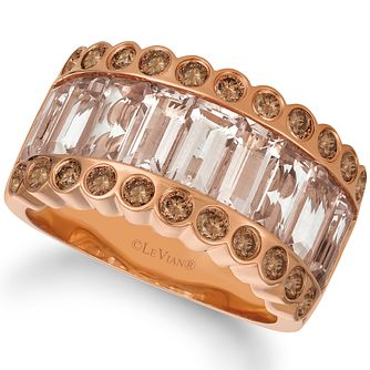 Le Vian 14ct Strawberry Gold Peach Morganite Ring - Product number 4290933