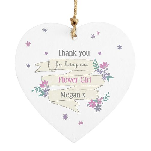 Personalised Garden Bloom Wooden Heart Decoration - Product number 4291301