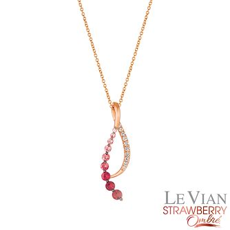 Le Vian 14ct Strawberry Gold Passion Ruby Ombre Pendant - Product number 4291727