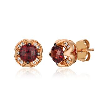 Le Vian 14ct Strawberry Gold Pomegranate Garnet Earrings - Product number 4292308
