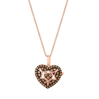 Le Vian 14ct Strawberry Gold Diamond Heart Locket - Product number 4292723