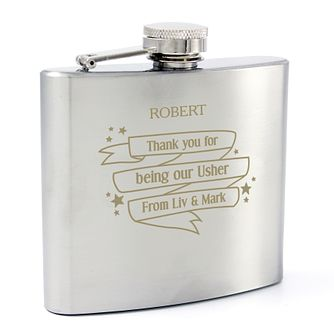 Engraved Shining Star Hip Flask - Product number 4296087