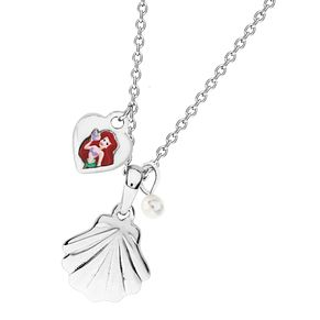 Disney Little Mermaid Children's Silver Shell Pendant - Product number 4297490