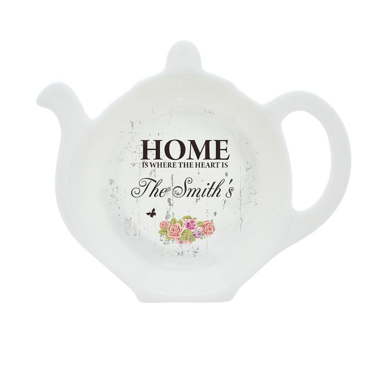 Personalised Shabby Chic Tea Bag Rest - Product number 4298063