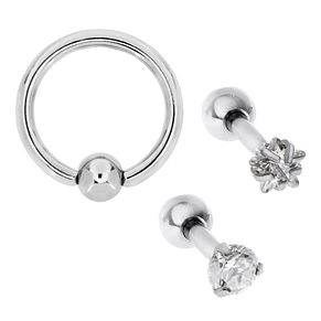 Bodifine Stainless Steel Ear Tragus Bar Set of 3 - Product number 4298217