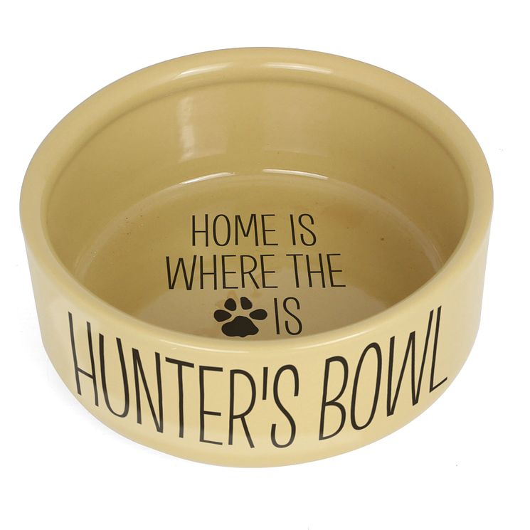 "Personalised ""Home Is Where"" Large Brown Dog Bowl - Product number 4298888"