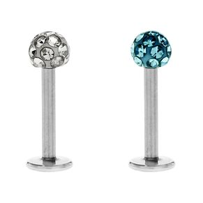 Bodifine Stainless Steel Crystal Ear Tragus Bar Set - Product number 4298977