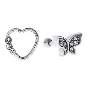 Bodifine Stainless Steel Butterfly Ear Tragus Bar Set - Product number 4299094