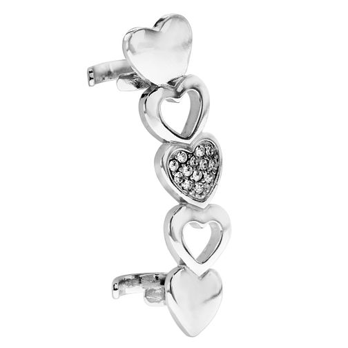 Bodifine Stainless Steel Hearts Ear Cuff - Product number 4299388