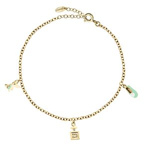 Bodifine Disney Tinkerbell Yellow Gold Plated Anklet - Product number 4300807