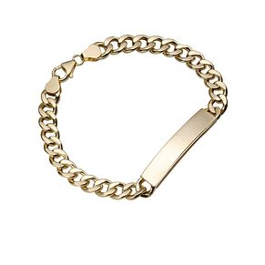 9ct Gold Curb ID Bracelet - Product number 4305159
