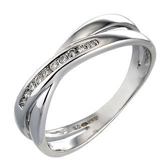 9ct White Gold Diamond Ring - Product number 4311094