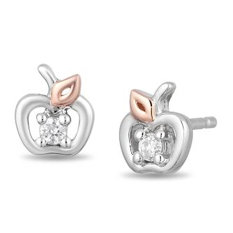 Enchanted Disney 9ct White Gold Diamond Snow White Earrings - Product number 4311361