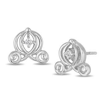 Enchanted Disney Silver & Diamond Cinderella Stud Earrings - Product number 4311388