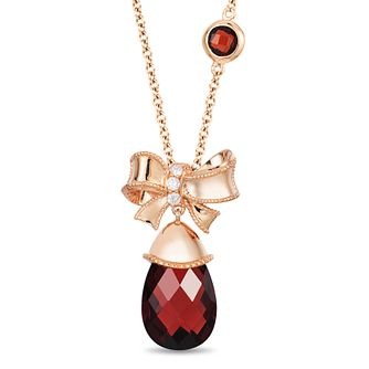 Enchanted Disney Diamond & Garnet Drop Snow White Pendant - Product number 4311477