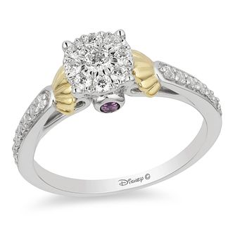 Enchanted Disney 9ct White Gold 1/2ct Diamond Ariel Ring - Product number 4312139