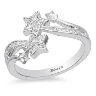 Enchanted Disney Silver & 1/10ct Diamond Tinker Bell Ring - Product number 4312600