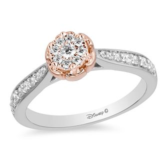 Enchanted Disney Fine Jewelry Rose Gold Diamond Belle Ring - Product number 4312783