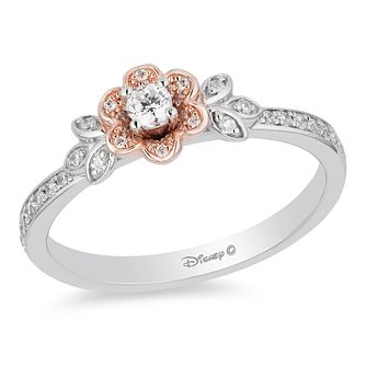 Enchanted Disney White & Rose Gold 1/4ct Diamond Belle Ring - Product number 4313763