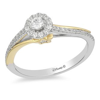 Enchanted Disney White Gold 1/4ct Diamond Tinker Bell Ring - Product number 4315375