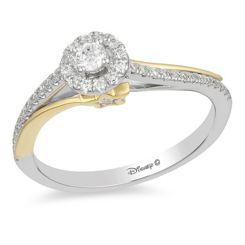 rings ct solitaire engagement d diamond cut wedding gold shop princess ring halo white
