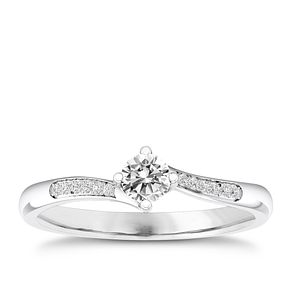 The Diamond Story 18ct White Gold 1/5ct Engagement Ring - Product number 4316185