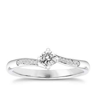 The Diamond Story 18ct White Gold 0.20ct Engagement Ring - Product number 4316185