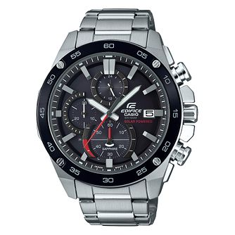 Casio Edifice Solar Men's Black Bracelet Watch - Product number 4316843