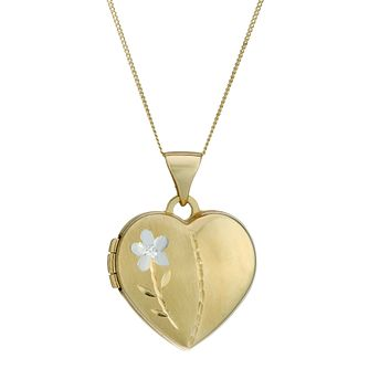 9ct Gold Heart and Tulip Locket - Product number 4319788