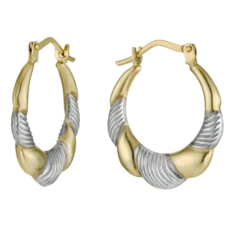 9ct Gold Creole Earrings - Product number 4322207