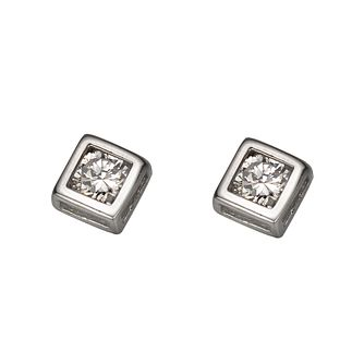 White Gold Cubic Zirconia Studs - Product number 4322282