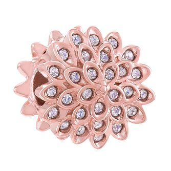 Chamilia Sterling Silver Rose Gold Plate In Bloom Bead - Product number 4327284