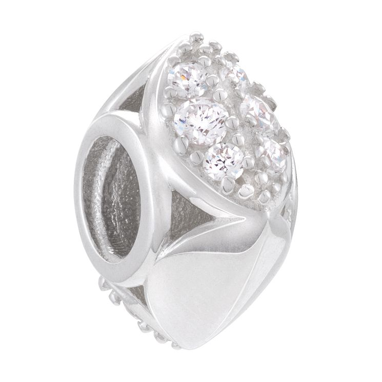 Chamilia Sterling Silver Facets Of Love Bead - Product number 4327322
